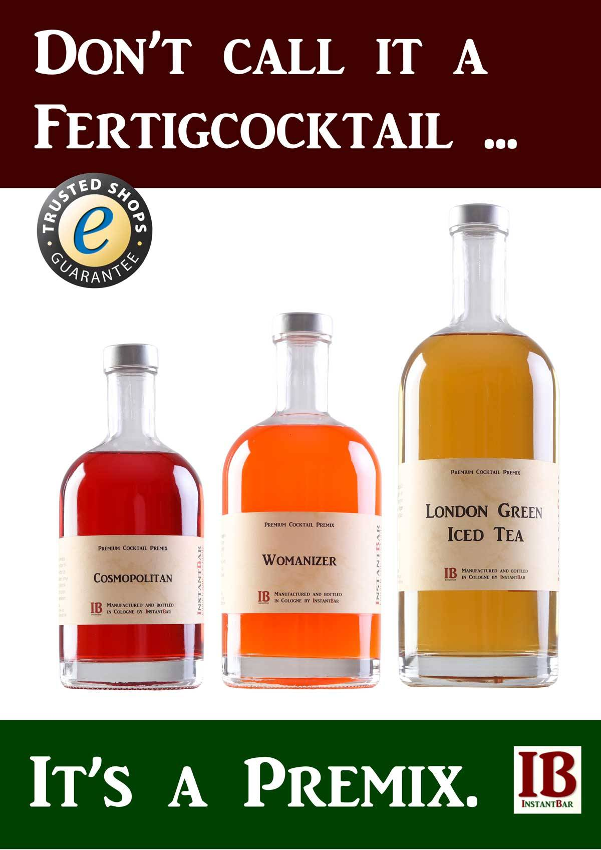 Cocktail Premix statt Fertigcocktail